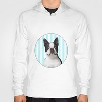 boston terrier Hoodies featuring Boston Terrier by jampot gallery