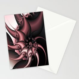 Thorny Cactus Fractal Stationery Cards