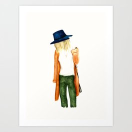 Fall Shades Fashion Illustration Art Print