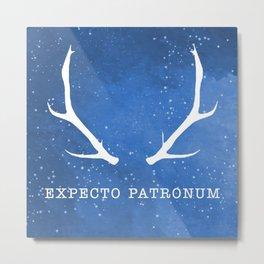 Expecto Patronum Blue Metal Print