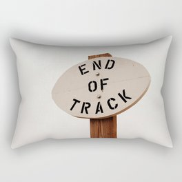 End of Track Rectangular Pillow