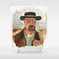 heisenberg Shower Curtains featuring heisenberg by Katharina Nachher