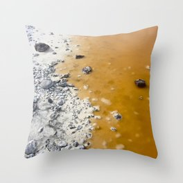 Red Lake II Throw Pillow