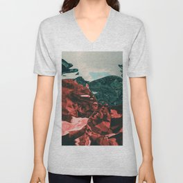 Color of the day is red Unisex V-Neck