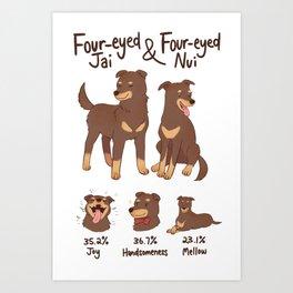 Four Eyed Jai & Nui Art Print