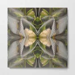 Floral bow illusion Metal Print