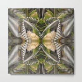 Floral bow illusion Metal Print