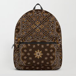Brown Bandanna Pattern Backpack
