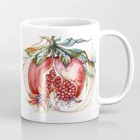 pomegranate Mugs featuring Pomegranate by Irina Vinnik