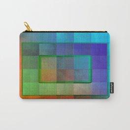 Aperture #2 Fractal Pleat Texture Colorful Design Carry-All Pouch