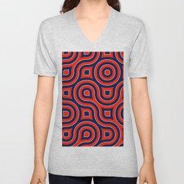 Red Deep blue spirale Unisex V-Neck