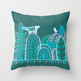 In Forest Throw Pillow