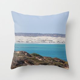 Distant Sacred Land on Nullarbor Throw Pillow