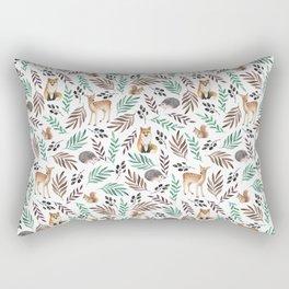 Cute forest. Watercolor Rectangular Pillow