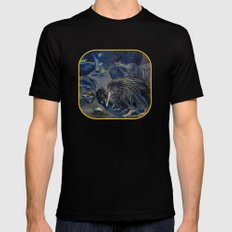 Kiwi, Bats, Morepork and More LARGE Black Mens Fitted Tee