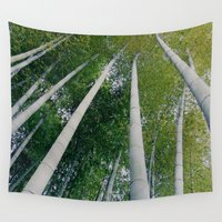bamboo Wall Tapestries featuring Bamboo by Sushibird
