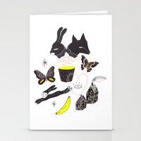 et Stationery Cards featuring Le Lièvre et le Renard by Esthera Preda