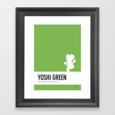 No36 My Minimal Color Code poster Yoshi Framed Art Print