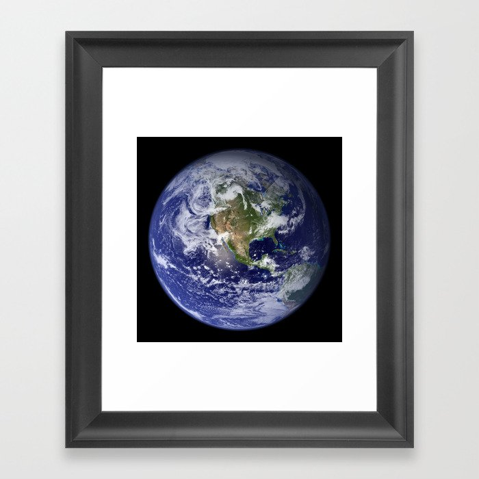 Planet Earth - The Blue Marble From Space Gerahmter Kunstdruck
