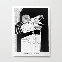 Shakespearean Death Scenes--Claudius Metal Print
