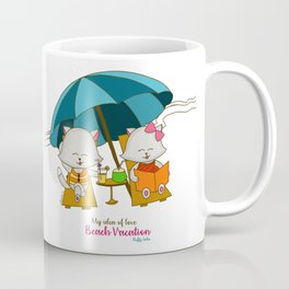 Romantic Kitten Fluffy Tales, My Idea Of Love: Beach Vacation (MIOL) Coffee Mug