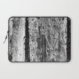 Carvings in Tree Trunk Gnarly Texture Pattern Laptop Sleeve