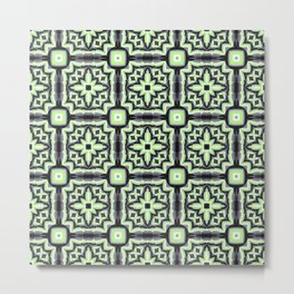 Agender Pride Starbursts and Squares Pattern Metal Print