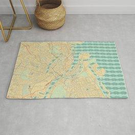 Copenhagen Map Retro Rug
