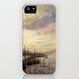 Venetian canal - Hermann Ottomar Herzog iPhone Case