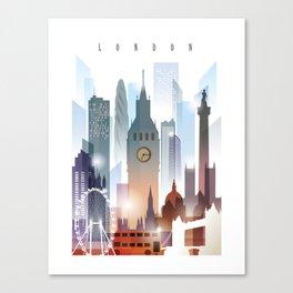 London city skyline, United Kingdom Canvas Print