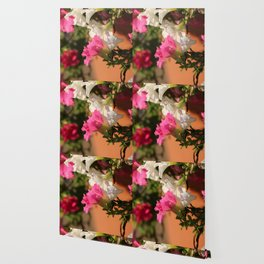 Glorious Abstract Floral  Wallpaper