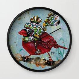 Cardinal Blaze Wall Clock
