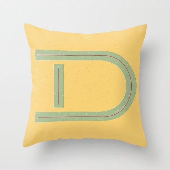 D 001 Throw Pillow