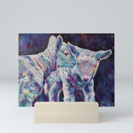 Lambs Sharing a Secret Mini Art Print