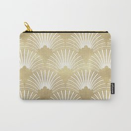 Gold foil look Art-Deco pattern Carry-All Pouch