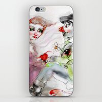 clown iPhone & iPod Skins featuring Clown by AliluLera