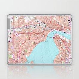 Vintage Map of Jacksonville Florida (1964) Laptop & iPad Skin
