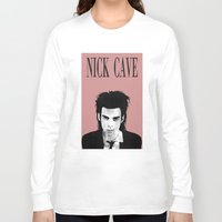 nick cave Long Sleeve T-shirts featuring nick cave by tama-durden