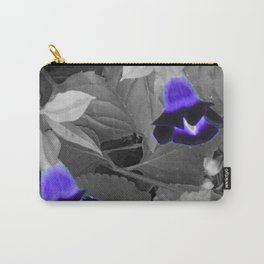 torenias with purple blooms Carry-All Pouch