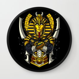 Egyptian Pharaoh Tutankhamun Ancient King Tut Wall Clock