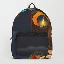 Tribal Carved Face Backpack
