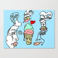 Ice Cream Dumb Heart Canvas Print