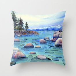 The Rocks of Tahoe Throw Pillow
