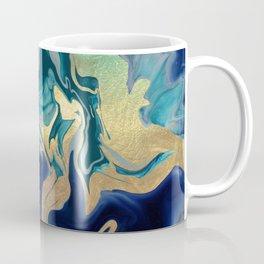 DRAMAQUEEN - GOLD INDIGO MARBLE Coffee Mug