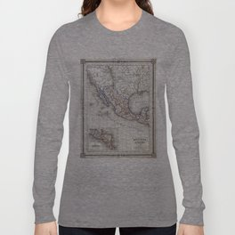 Vintage Map of Mexico (1852) Long Sleeve T-shirt