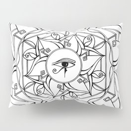 Eye of Horus Mandala Pillow Sham