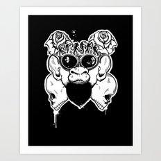 Rock Out Monkey Boy Art Print