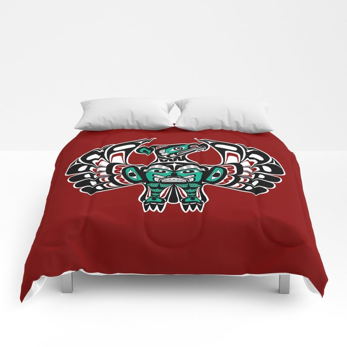 Northwest Pacific coast Haida art Thunderbird Comforters