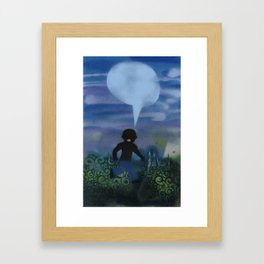 Boy Runs Series Framed Art Print