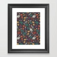 Midnight Florals Framed Art Print